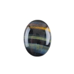 Natural Tiger Eye Blue Gemstone - Cabochon Oval 15x20mm