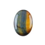 Natural Tiger Eye Blue Gemstone - Cabochon Oval 18x25mm