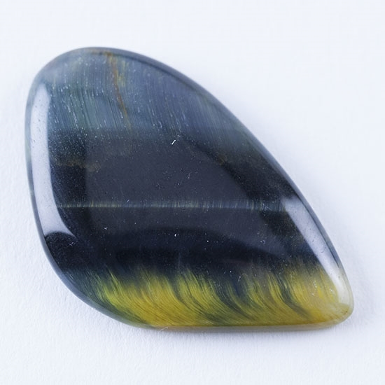 hawk s eye gemstone cabochon freeform 20mm x 32mm cool