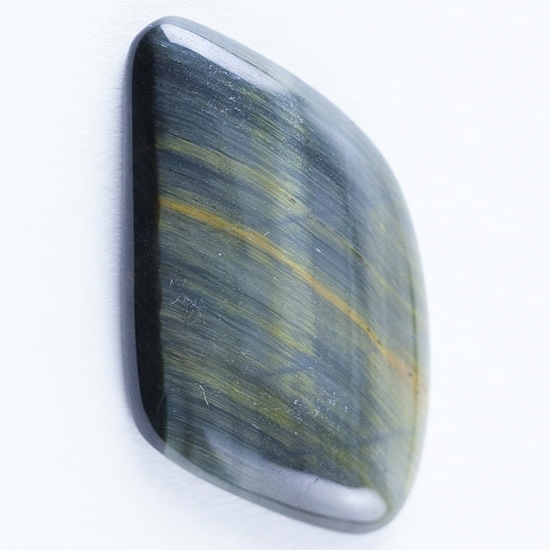 hawk s eye gemstone cabochon freeform 20mm x 28mm cool