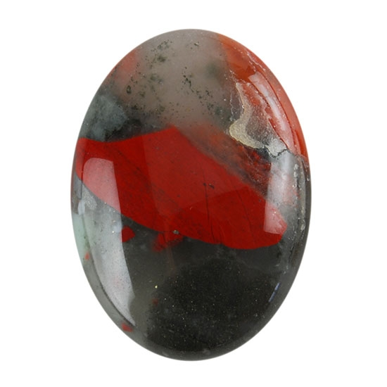 bloodstone a gemstone cabochon oval 18x25mm
