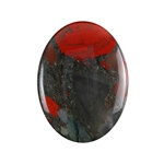 Natural Bloodstone A Gemstone - Cabochon Oval 30x40mm - Pak of 1
