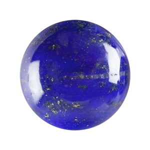 Natural Lapis Lazuli Gemstone - Cabochon Round 8mm - Pak of 1