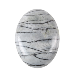 Natural Zebra Jasper Gemstone - Cabochon Oval 30x40mm - Pak of 1