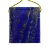 Natural Lapis Lazuli Gemstone - Rectangle Pendant 29mm x 33mm