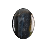 Natural Tiger Eye Blue Gemstone - Cabochon Oval 22mm x 30mm