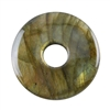 Natural Labradorite Gemstone - Round Pendant 30mm Pkg - 1