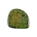 Stabilized Turquoise Gemstone - Cabochon Freeform 46x50mm - Pak of 1