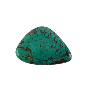 Stabilized Turquoise Gemstone - Cabochon Freeform 34x49mm - Pak of 1