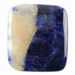 Sodalite Gemstone - Cabochon Rectangle 27mm x 31mm Pkg - 1