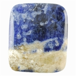 Sodalite Gemstone - Cabochon Rectangle 29mm x 35mm Pkg - 1