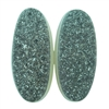 Druzy Quartz in Agate Gemstone - Oval Cabochon 9mm x 20mm Matched Pair