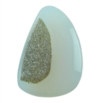 Druzy Quartz in Agate Gemstone - Freeform 20mm x 29mm Pkg - 1