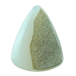 Druzy Quartz in Agate Gemstone - Shield 27mm x 35mm Pkg - 1
