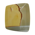 Polychrome Jasper Gemstone - Tapered Rectangle Cabochon 42mm x 48mm - Pak of 1
