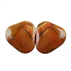 Red Creek Jasper Gemstone - Cabochon Freeform 20mm x 21mm - Matched Pair