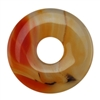 Glass Stone - Orange Pendant Round 40mm Pkg - 1