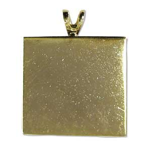 Gold-Plated Square Pendant
