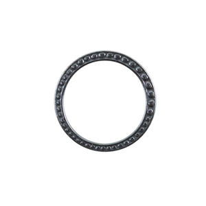 Gunmetal Plate Jump Ring - Fancy Dotted 25mm