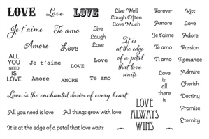 Jewel Stamps - Loving Words