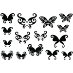 Jewel Stamps - Butterflies 1