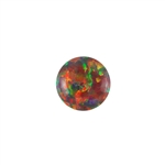 Imitation Red Opal Gemstone - Cabochon Round 6mm - Pak of 1