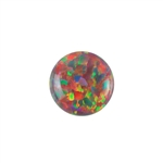 Imitation Red Opal Gemstone - Cabochon Round 8mm - Pak of 1