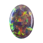 Imitation Red Opal Gemstone - Cabochon Oval 6x8mm - Pak of 1