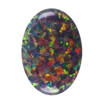 Imitation Red Opal Gemstone - Cabochon Oval 10x14mm