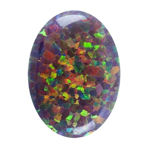 Imitation Red Opal Gemstone - Cabochon Oval 13x18mm