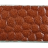 Reptile Textured Leather - 10mm Brown with Turquoise - 6""