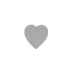 Sterling Silver Shape - Heart - 17.5mm x 18mm Pkg - 2
