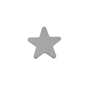 Sterling Silver Shape - Star - 20mm Pkg - 2