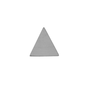 Sterling Silver Shape - Large Triangle - 18x18.5mm