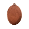 Antique Copper Plate Shape - Oval Pendant - 22mm x 30mm