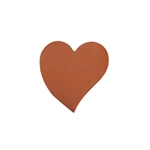 Copper Shape - Heart - 16mm x 16.5mm Pkg - 10