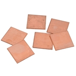 "Copper Shape - Square - 1"" Pkg - 6"