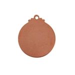 Copper Shape - Circle Pendant - 17 x 19mm