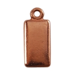 Copper Plate Shape - Rectangle Pendant - 6mm x 11mm