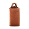 Antique Copper Plate Shape - Rectangle Pendant - 6mm x 11mm