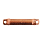Copper Plate Shape - Banded Rectangle Connector - 24mm x 7mm