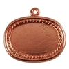 Copper Plate Shape - Framed Oval Pendant - 20mm x 26mm