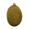 Antique Brass Plate Blank - Oval Pendant - 22mm x 30mm