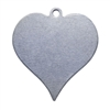 Nickel Shape - Heart Pendant - 7/8""