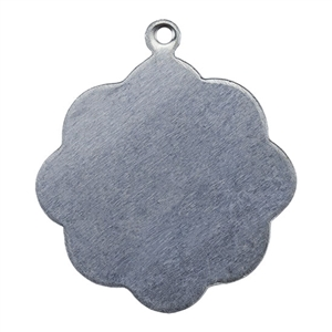 Nickel Shape - Flower Pendant - 3/4""