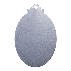 "Nickel Shape - Fancy Oval Pendant - 1-1/4"" Pkg - 2"