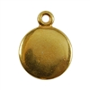 Gold Plate Shape - Round Pendant - 10mm