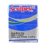 Sculpey III Polymer Clay - Blue 2 oz block