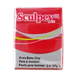 Sculpey III Polymer Clay - Red 2 oz block