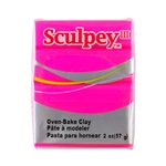 Sculpey III Polymer Clay - Hot Pink 2 oz block